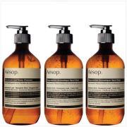 Aesop Geranium Cleanser, Resurrection and Reverence Hand Wash Bundle